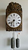 French Comtoise Clock, Folding Pendulum, Repeat Function Antique Mid 19c Key