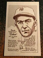 "Frank Home Run Baker Yankee 1977-1981 Bob Parker HOF Series III 3.5"" x 5.5"" Card"
