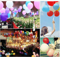 100pcs 10'' Colorful Latex Ballons Party Wedding Birthday Decoration 10 colors