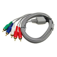 High Quality 5 RCA 6 Ft Component AV Cable Cord For Nintendo Wii HDTV HD Premium