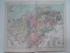 "ELGIN & NAIRN  COUNTY SCOTLAND ANTIQUE BARTHOLOMEWS MAP1898 7""x9""  PHILIPS ATLAS"