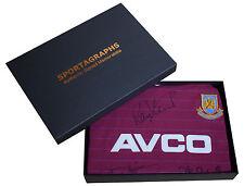 West Ham United Squad SIGNED Shirt x12 Autograph Boys of 86 Gift Box New & COA