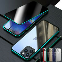 For iPhone 12 11 Pro Max Anti-Spy Magnetic Tempered Glass 360° Full Case Cover