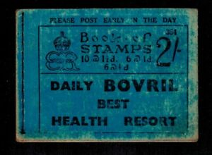 BOOKLET with advert pane 1936 EDWARD VIII 2/- SG BC2 NUMBER 354  *