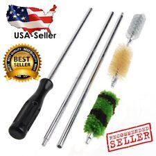 6Pcs 12 GA Gauge Gun Rod Brush Cleaning Kit Aluminum Hunting Shotgun Rifle Set