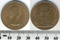 GREAT BRITAIN 1967 - 1 Penny  Large Bronze Coin - Queen Elizabeth II - #1