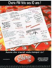 Fm radio in collectibles ebay publicit advertising 1999 radio cherie fm fandeluxe Choice Image