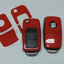 1S_Schlüssel-Dekor Aufkleber SEAT Ibiza Leon Cupra Alhambra rot glänzend