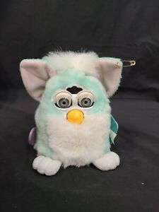 1999 Turquoise & White Furby Babies Model 70-940
