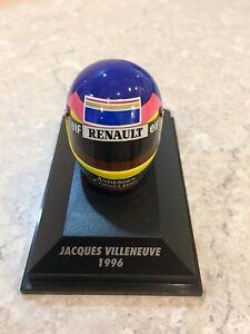 MINICHAMPS 1/8 SCALE JACQUES VILLENEUVE, WILLIAMS 1996 BELL HELMET, 380960006