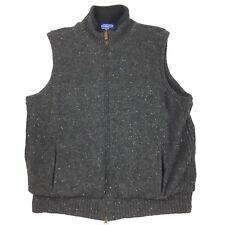 Pendleton Mens Size Large Shetland Wool Fleece Lined Vest Reversible Grey Jacket