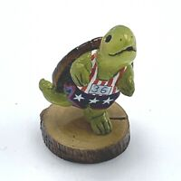 Wee Forest Folk Miniature Figurine Turtle Jogger TS 1s Forget Me Nots Series