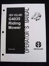 GENUINE NEW HOLLAND G4035 ZERO TURN MOWER OPERATORS MANUAL VERY NICE