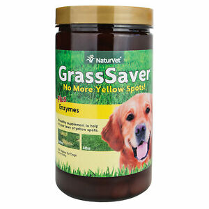 NaturVet GrassSaver Dog Supplement Get Rid of Yellow Lawn Spots 300 Wafers