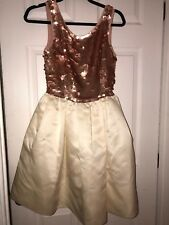 Anthropologie Pink Sequin Dress Size Small 2