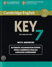 Cambridge KEY ENGLISH TEST KET 7 Book w Answers &Audio CD Examination Papers NEW