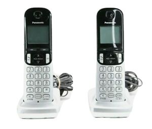 Panasonic Cordless Handset Set of 2 Phones KX-TGCA21 + PNLC1055 Charging Bases