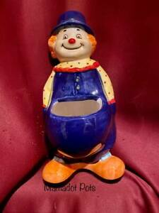 Clown Ceramic Planter Pot.