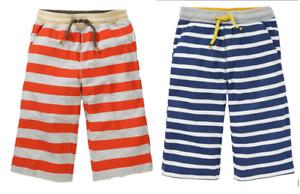 Ex Mini-Bod*n BOYS Baggies Long Jersey Cotton Beach Shorts Navy Orange Age 3-16