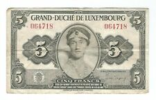 Luxembourg - Five (5) Francs 1944
