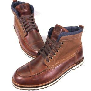Aldo Brown Leather Combat Boots Size 10 Men's