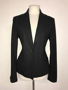 HUGO BOSS - Ladies Plain BLACK WOOL TROUSER SUIT - Size 12-14 - GORGEOUS