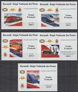 L838. Burundi - MNH - Transport - Trains - French - Deluxe - Imperf
