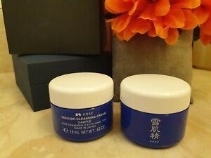 KOSE! 2 PCS~ Sekkisei Cleansing Cream 0.62OZ, 19ml  NWOB  FREESHIP  Skincare