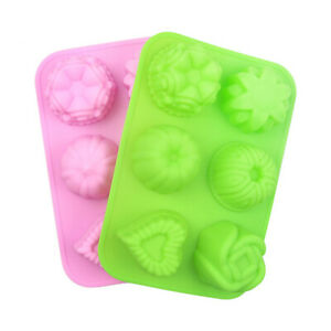 Silicone 3D Rose Cake Mold Heart Flower Veiner Fondant Clay Chocolate Icing Tool