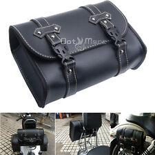 Universal Motorcycle Saddle Luggage Leather Bag For Harley Davidson