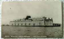 RPPC POSTCARD SPANISH BOCACHICA CASTLE FORTRESS CARTAGENA COLUMBIA #99jl
