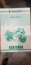Genuine Suzuki Motorcycle Owners Manual For GSX1300R (2000)