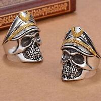 Men's Skull Rings Metal Finger Ring Band Gothic Biker Punk Ring Fashion Jewelry