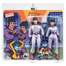 Super Friends Retro Mego Style Action Figures: Wonder Twins & Gleek Three Pack