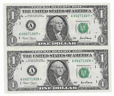 Scarce $1 2001 Boston District Short Printed 320,000 Star Pair CHCU