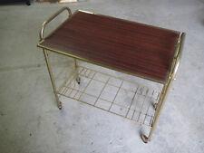Ancienne desserte table d'appoint années 1970 déco vintage en métal doré