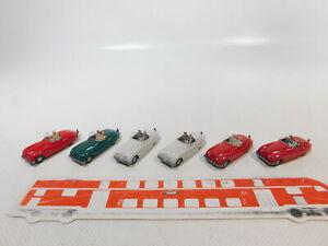 CA446-0,5# 6x Wiking 1:87/H0 PKW-Modell Jaguar-Sport 20, NEUW