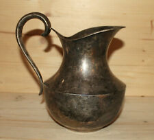 Antique hand made silver plated pitcher jug