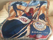 2014 Sochi U.S. Winter Olympics Tapestry Throw Blanket