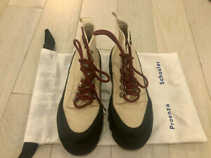 Proenza Schouler Off White Hiking Boots Size 37
