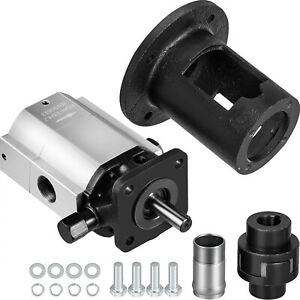Log Splitter Pump Kit 16 GPM Hydraulic Pump 2-Stage + Jaw Coupler & Pump Bracket