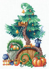 Counted Cross Stitch Kit MAKE YOUR OWN HANDS T-22 - Treehouses. Generous