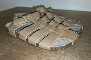 Toddler Boys Old Navy Tan Faux Leather Fisherman Sandals Size 10