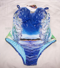 Speedo Aquabumps Eco Mirror Mirror Ladies 1 Piece Swimsuit Bathers Size 12 New