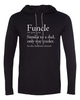 Mens Hooded Funcle Definition Shirt Awesome Cool Uncle Baby Shower Long Sleeve