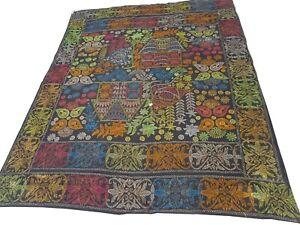 KH831- Beautiful Vintage Handmade Patchwork Kantha Quilt Throw Reversible Ralli