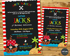 PIRATE PARTY SUPPLIES INVITATION CARDS INVITES 1ST BIRTHDAY PERSONALISED PHOTO