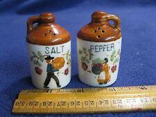 Vintage Ceramic Jug Pilgrim Settlers Salt and Pepper Shakers Empress      34