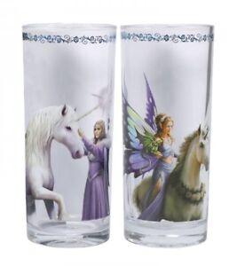 Anne Stokes UNICORNS GLASS Set of 2 Tall Drinking Glasses