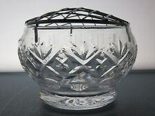 Royal Doulton cristallo taglio GEORGIANA VETRO ROSE Bowl vaso di fiori di griglia 13 CM TRA